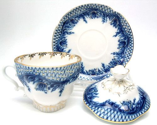 Blue Rhapsody (Голубой садик) Fine Porcelain Tea Maker