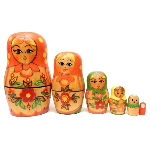 """""""Sweetheart from Tver"""" Nesting Matryoshka Doll"""