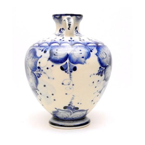 Classic Jug Shape Gzhel Bud Vase with Handles