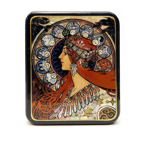 The Zodiac Fedoskino Lacquer Box