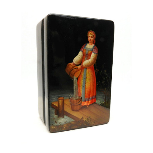 Water Girl Fedoskino Lacquer Box