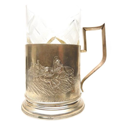 Antique Silver Tea Glass Holder