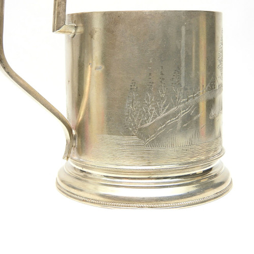 Antique Silver Tea Glass Holder