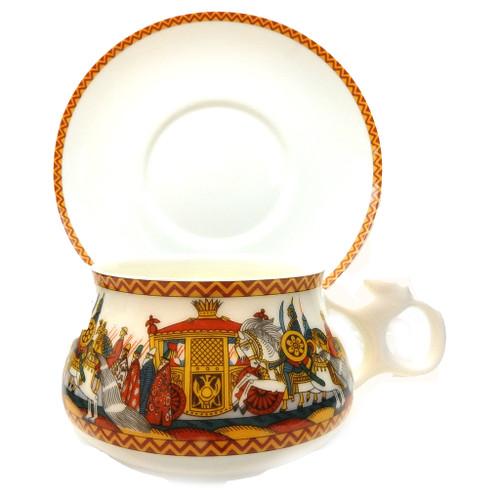 Ivan Bilibin Medieval Russia Tea Cup and Saucer