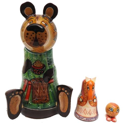 """Kolobok"" The Little Round Bun Matryoshka Doll"
