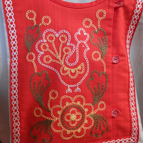 Russian Shirt Embroidered Rooster