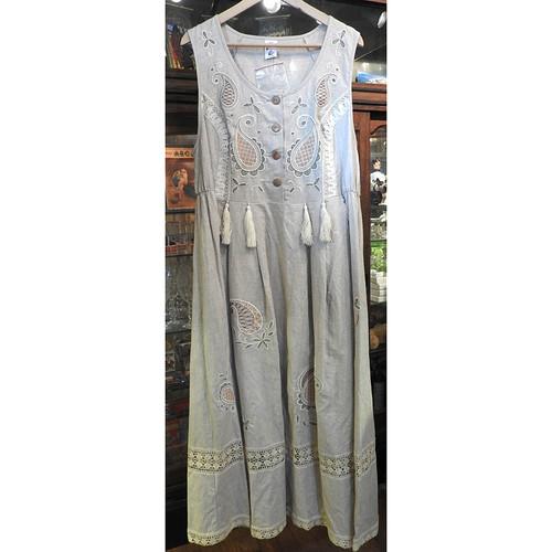 Russian Embroidered Linen Dress