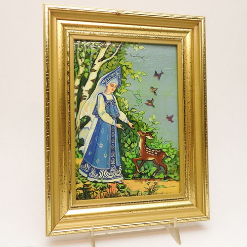The Snow Maiden Small Painting Blue