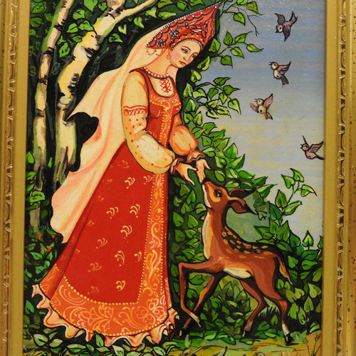 The Snow Maiden Small Painting Red