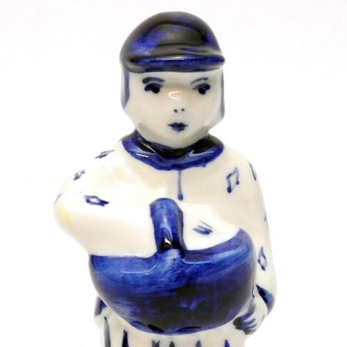 Boy with Basket Gzhel Figure