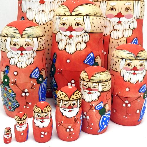 Santa Claus 10-pc. Matryoshka Doll