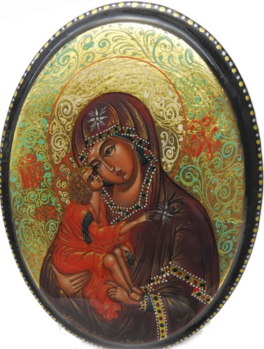 Virgin of the Don Palekh Icon Box