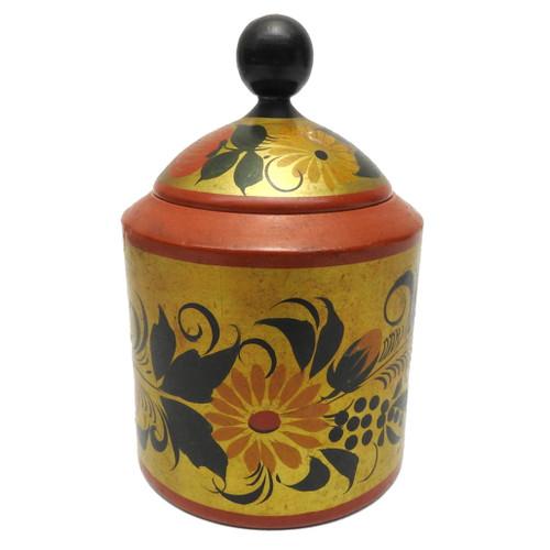 Vintage Khokhloma Sugar Bowl