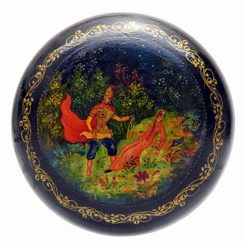 Sleeping Princess Vintage Mstera Lacquer Box