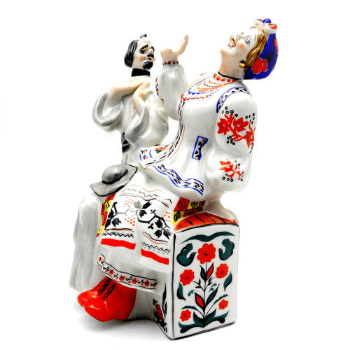 The Deacon and Solokho [Kiev Porcelain}