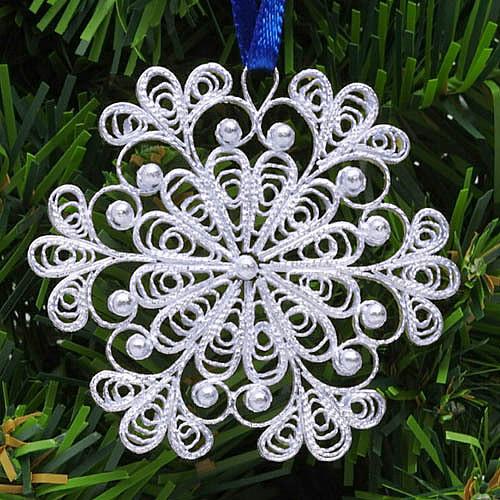 "BESTSELLER!! ""Снежинка"" (SnowFlake) Russian Filigree Christmas Ornament"