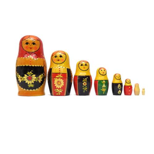 """Vyatka 7-nest """"Straw"""" Matryoshka"""