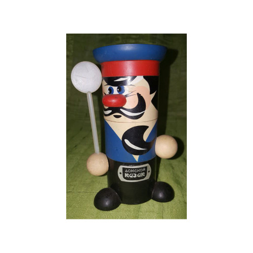 Don Cossack Novelty Salt and Pepper showing spoon