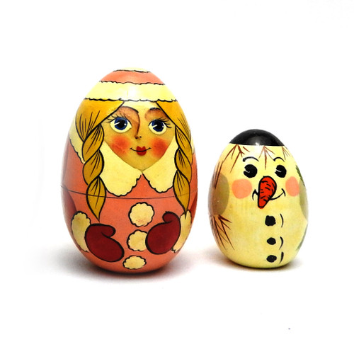 Santa and Friends Nested Egg