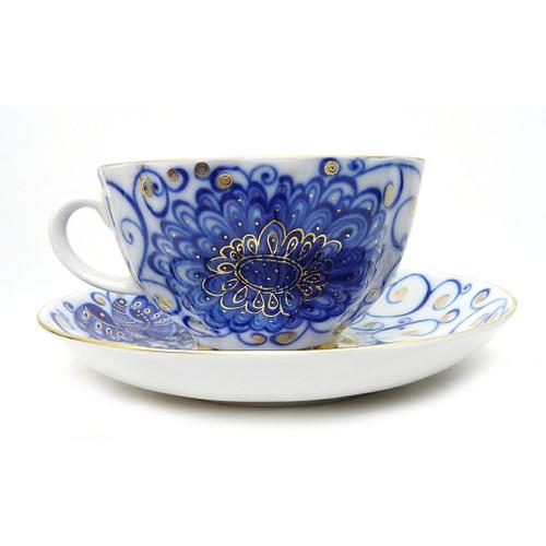 Tsar Bird Teacup and Saucer [USSR]