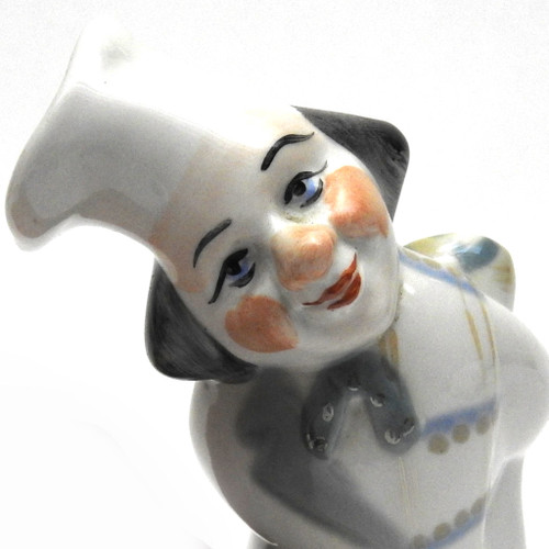 Cheerful Cook and Cat [Polonne Porcelain Factory]