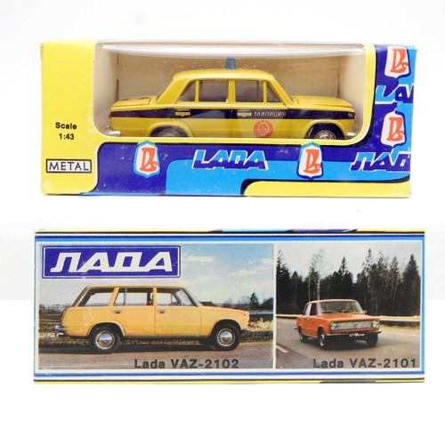 Scale Model Lada Russian Police Car VAZ 2101