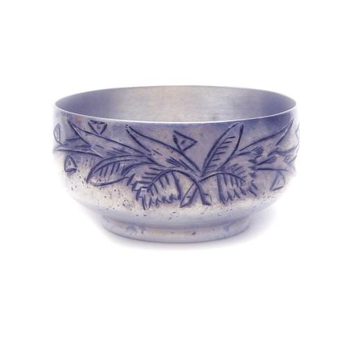 Russian 84 Silver Engraved Niello Salt Dish [1895]