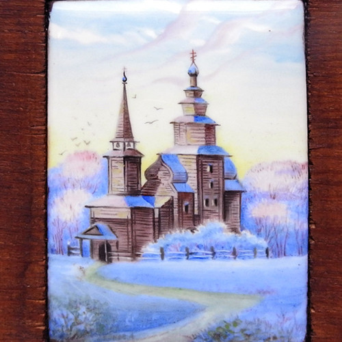 Church of St. John the Divine Finift Miniature Painting