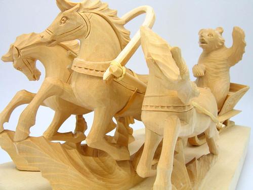 Carved Troika (General Toptygin) Bogorodsk