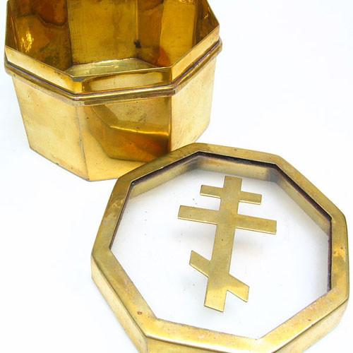 Russian Orthodox Cross Brass Box