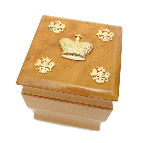 Karelian Birch Wood Spice or Tea Box
