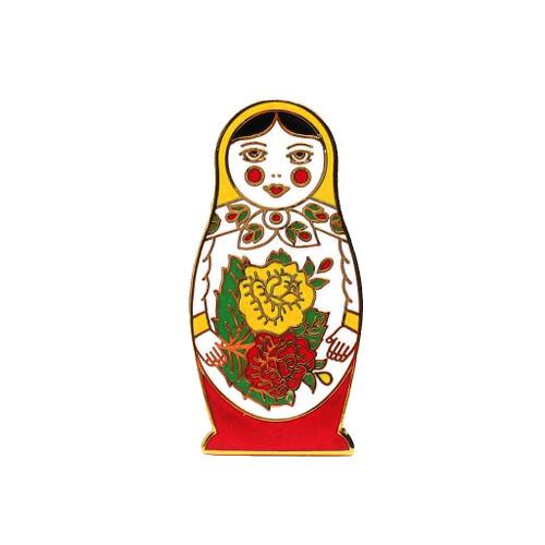 Semenov Matryoshka Enamel Pin