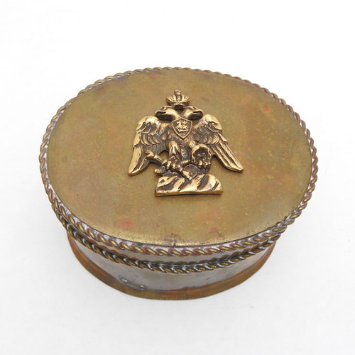 Peter the Great Imperial Eagle Brass Box