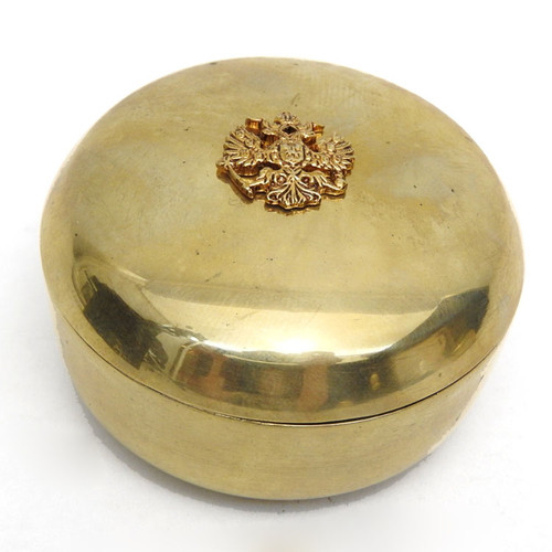 Nesting Brass Imperial Russian Eagle Boxes