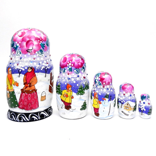 Winter Village Matryoshka Doll