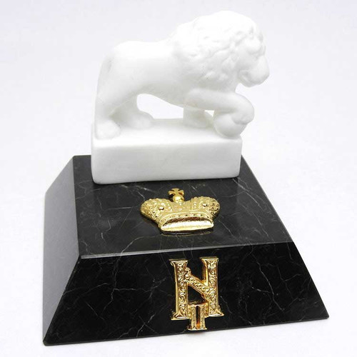 Regal Lion Marble Paperweight