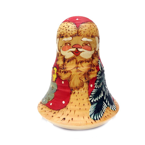 Santa Claus Roly Poly Chime Doll