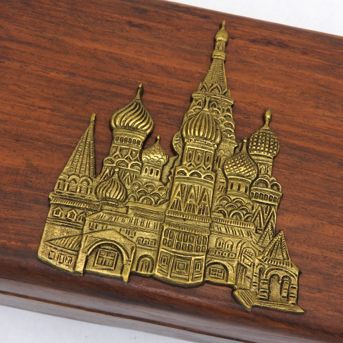 Wooden Box with Emblem of St. Basil's Cathedral