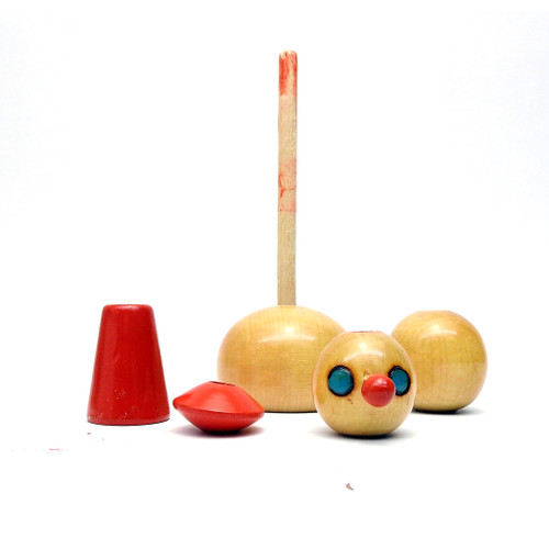 Vintage Clown Stacker Toy