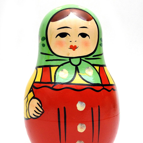 Zagorsk Red Roly Poly Chime Doll