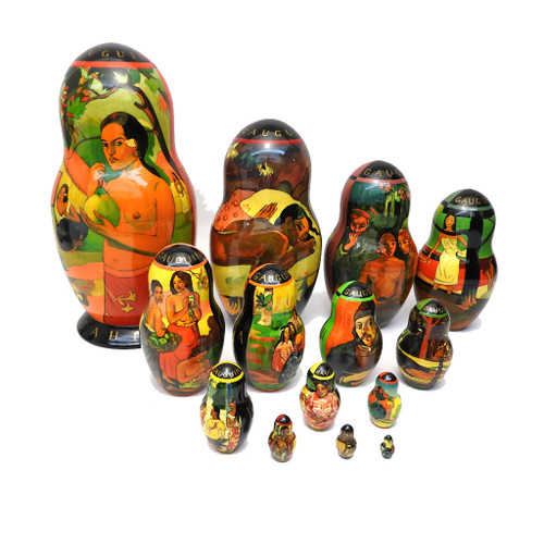 The Works of Gauguin Russian Art Matryoshka