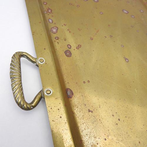 Brass Curved Front Samovar Tray