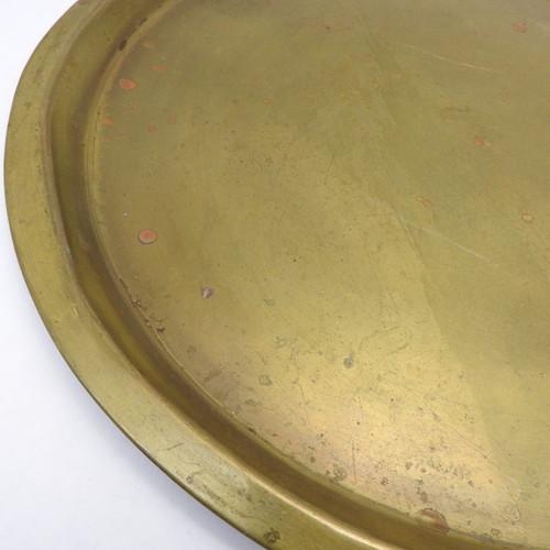 Russian  Spun Brass Round Serving Tray