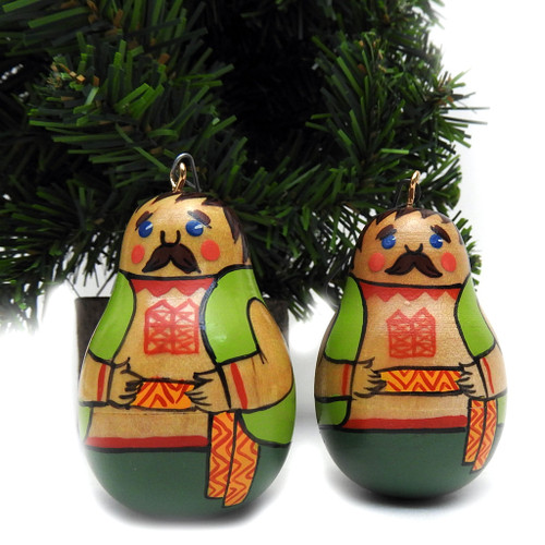 Roly Poly Twins Ornaments