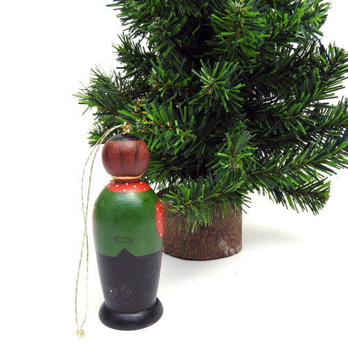 Boy in Green Vest Ornament