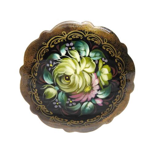 Flower Brooch [Pink, Aquamarine, Olive]