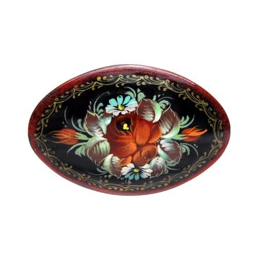 Flower Brooch [Red, Turquoise, Mocha]