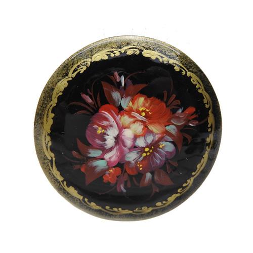 Flower Brooch [Cherry, Aqua, Ebony]