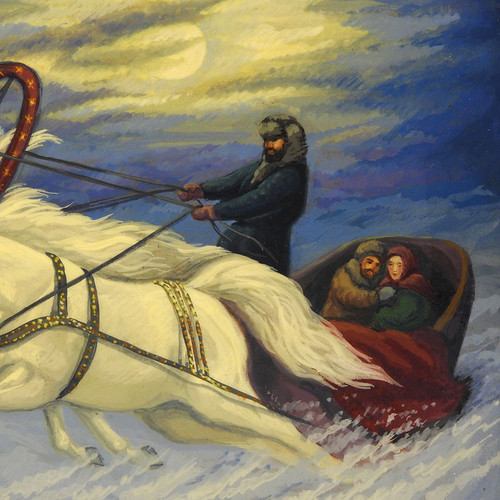 """Winter's Night""  Cabinet Art"