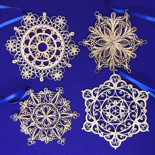 Unique Snowflakes Filigree Ornaments